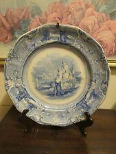 Antique Ironstone Blue T. Goodfellow Colonna Staffordshire England Dinner Plate