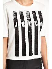 BNWT Ladies Vertical Stripe Sequin Graphic Top JUICY COUTURE - sz M