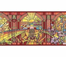 Church Like Stained Glass Windows Wallpaper Border FF03152B