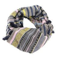 Vintage Women Fashion Scarves Ethnic style Tassels Multicolor Staipe Scarf