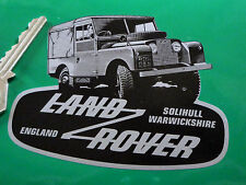 "LAND ROVER DEFENDER Shaped Black & Silver STICKER 4"" Classic Landy Ninety OneTen"