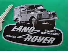 """Land Rover Defender en forma de Negro Y Plata pegatina 4 """"Clásico Landy noventa OneTen"""