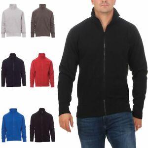 Herren Sweatjacke ohne Kapuze Zip-Jacke Reißverschluss Kragen Zipper Sweatshirt