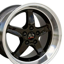 17x9 / 17x10.5 Black Cobra R Wheels Set of Four Rims Fit Mustang® GT '94-'04 B1W