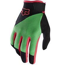 Fox Reflex GEL Full Finger Gloves Mountain Bike Flo Green 2016 Medium