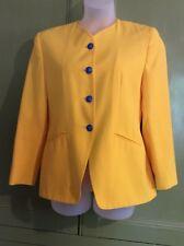 Richards Uk 14 Vintage Yellow Jacket 80's Summer
