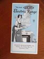 c.1920s Wilwear Electric Range Catalog Brochure Novelty Mfg Co Waterbury Vintage