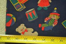 "By 1/2 Yd, 43"" Wide, Toys on Navy Pinwale / 20-Wale Cotton Corduroy, M2612"