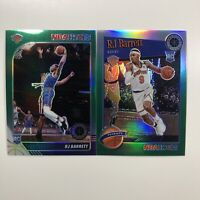 2019-20 NBA Hoops Premium Stock RJ Barrett Green Prizm RC & Tribute Green KNICKS