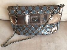 French Connection Gray Brown Bronze Silver Chain Shoulder Bag/ Purse