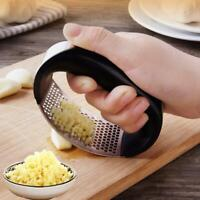 Kitchen Stainless Steel Garlic Press Crusher Squeezer Mincer Chopper Gadget CA
