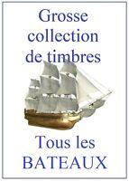 Collection de 710 timbres  LES BATEAUX