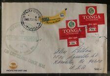 1973 Niuafoou Tonga Toga Islands Tin Can Mail Cover To Honolulu Hawaii Redcross