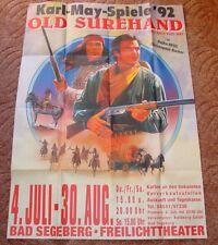 KARL MAY FESTSPIELE BAD SEGEBERG - A0 PLAKAT - OLD SUREHAND 1992 / GOJKO MITIC