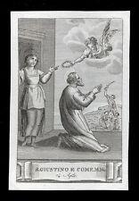 santino incisione 1800 S. GIUSTINO IL FILOSOFO ECC. MM.