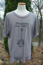New listing Vtg! Philadelphia Folk Festival Men's Sz: Xl Brown Cotton Banjo T-Shirt Made-Usa