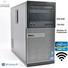 Fast Dell Mini Tower PC Intel Core i5 3.1GHz 1TB 8GB Windows 10 Computer DP VGA