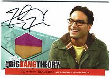 Big Bang Theory Seasons 3 & 4 Autograph Costume Card A1 Johnny Galecki Leonard