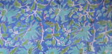 Hand Block Print Pure Cotton Fabric Sanganeri Running Indian New Vintage 3 Yard