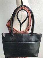HOBO THE ORIGINAL Med Black Leather Shoulder Purse Bag