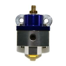 "Fuel Pressure Regulator 5-12 PSI Adjustable Anodized Aluminum Blue 3/8"" NPT Port"