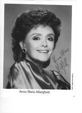 """auth. autographed photo """"Anna Maria Alberghetti"""" w/coa"""