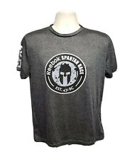 2014 Reebok Spartan Trifecta Qualifier Finisher Womens Medium Gray TShirt
