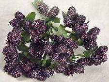 Purple Beaded Berries Stamens Wedding Millinery Dolls Flower Crafts Floral Bride