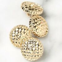 Chanel Buttons 4pc CC Gold 11mm Mini Quilted Style 4 Buttons unstamped AUTH!!!