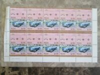 AC Cobra Blue,sheet of 10 stamps unused Nevis