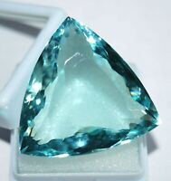 62.10 Ct Aquamarine Gemstone Loose Aquamarine Trillion Shape Best Offer