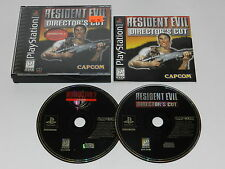 Resident Evil Directors Cut Sony Playstation PS1 Video Game Complete