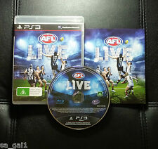 AFL Live (Sony PlayStation 3, 2011) PS3 Game - FREE POSTAGE