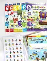 New alphablocks learn to read reading programme magazine letter tiles stickers