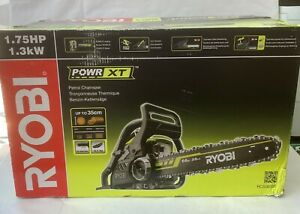 Ryobi Petrol Chainsaw 35cm Bar RCS3835T Auto Lubrication 2-yrs Warnty Brand New