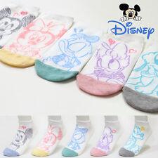 5 Pairs Women Disney Character Socks Girls Big Kids Mickey Mouse Cartoon Socks