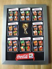 32 Coca Cola Länder Pins FIFA World Cup 2010 South Africa im Rahmen