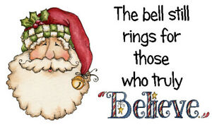 BELIEVE MAGIC BELL LABELS x 42 -  Father Christmas Santa Bell  -  🎅Christmas