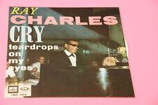 "SOLO COPERTINA SENZA DISCO 7"" RAY CHARLES TEARDROPS ON MY EYES ORIG 1965 NM !!!!"