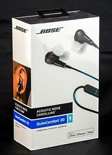 Bose QC20 Noise Cancelling In Ear Headphones For Apple Devices - Black