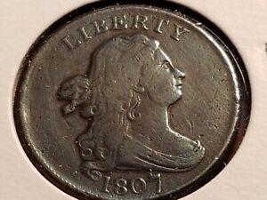 1807 Draped Bust Half Cent, bold date & liberty    INV11     P1115