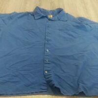 Foundry Men's 3XLT Blue Print Shirt EUC