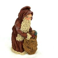 Vtg June McKenna Christmas Ornament Santa Long Beard Toys Hand Signed 1987 Rare