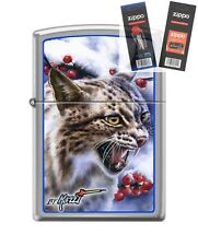 Zippo 7035 Mazzi Lynx Lighter with *FLINT & WICK GIFT SET*