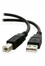 EXTRA Lungo/5m USB 2.0 ad Alta Velocità Stampante Cavo Piombo A a B LUNGO NERO SCHERMATO