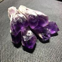 1pc Amethyst Scepter Wand Natural Quartz Crystal Cluster Point Specimen Healing