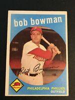 F62869  1959 Topps #221 Bob Bowman PHILLIES