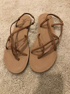 NWOB Shade and Shore Strappy Gladiator Sandals Tan Size 12