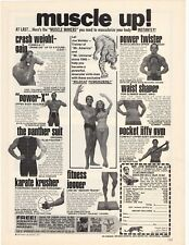 """1975 Muscle Up! Mr. Joe Weider """"Trainer of Champions Since 1936"""" Advertisement"""