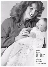 Babies' 2 Ply Christening Robe and Shawl Vintage Knitting Pattern 10125